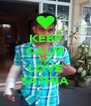 KEEP CALM AND LOVE SATHIA - Personalised Poster A4 size