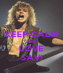 KEEP CALM AND LOVE SAV! - Personalised Poster A4 size
