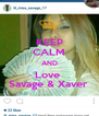 KEEP CALM AND Love  Savage & Xaver  - Personalised Poster A4 size