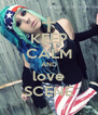 KEEP CALM AND love SCENE - Personalised Poster A4 size