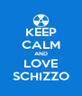 KEEP CALM AND LOVE SCHIZZO - Personalised Poster A4 size