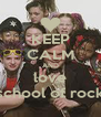 KEEP CALM AND love school of rock - Personalised Poster A4 size