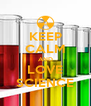 KEEP CALM AND LOVE SCIENCE - Personalised Poster A4 size