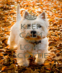 KEEP CALM AND LOVE SCOTTIE - Personalised Poster A4 size