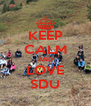 KEEP CALM AND LOVE SDU - Personalised Poster A4 size
