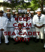 KEEP CALM AND LOVE SEA CADET UNIT - Personalised Poster A4 size