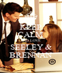 KEEP CALM AND LOVE SEELEY & BRENNAN - Personalised Poster A4 size