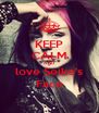 KEEP CALM AND love Seike's Face - Personalised Poster A4 size