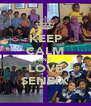 KEEP CALM AND LOVE SENBIX - Personalised Poster A4 size