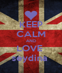 KEEP CALM AND LOVE  seydina  - Personalised Poster A4 size