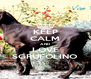 KEEP CALM AND LOVE SGRUFOLINO - Personalised Poster A4 size