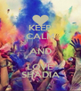 KEEP CALM AND LOVE SHADIA - Personalised Poster A4 size