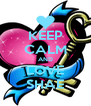 KEEP CALM AND LOVE SHAE - Personalised Poster A4 size