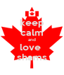 keep calm and love  shams - Personalised Poster A4 size