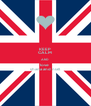 KEEP CALM AND love  shana and niall - Personalised Poster A4 size