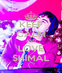 KEEP CALM AND LOVE SHIMAL - Personalised Poster A4 size