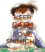 KEEP CALM AND LOVE SHINICHI  - Personalised Poster A4 size