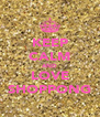 KEEP CALM AND LOVE SHOPPONG - Personalised Poster A4 size