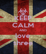 KEEP CALM AND love shree - Personalised Poster A4 size