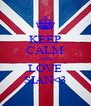 KEEP CALM AND LOVE SIAN<3 - Personalised Poster A4 size