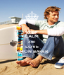 KEEP CALM AND LOVE SIMON BAKER - Personalised Poster A4 size