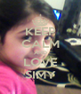 KEEP CALM AND LOVE SIMY - Personalised Poster A4 size
