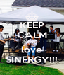 KEEP CALM AND love SINERGY!!! - Personalised Poster A4 size