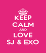 KEEP CALM AND LOVE SJ & EXO - Personalised Poster A4 size