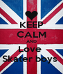 KEEP CALM AND Love  Skater boys  - Personalised Poster A4 size