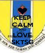 KEEP CALM AND LOVE SKTSG - Personalised Poster A4 size