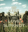 KEEP CALM AND LOVE SLIPKNOT - Personalised Poster A4 size