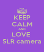 KEEP CALM AND LOVE  SLR camera - Personalised Poster A4 size