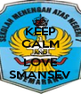 KEEP CALM AND LOVE SMANSEV - Personalised Poster A4 size