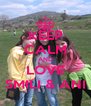 KEEP CALM AND LOVE SMILI & ANI - Personalised Poster A4 size