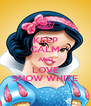 KEEP CALM AND LOVE SNOW WHITE - Personalised Poster A4 size
