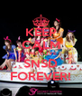 KEEP CALM AND LOVE SNSD FOREVER! - Personalised Poster A4 size
