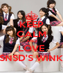 KEEP CALM AND LOVE SNSD'S WINK - Personalised Poster A4 size