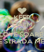 KEEP CALM AND LOVE SOARE  PE STRADA MEA - Personalised Poster A4 size