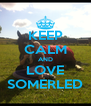 KEEP CALM AND LOVE SOMERLED - Personalised Poster A4 size