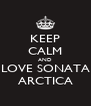 KEEP CALM AND LOVE SONATA ARCTICA - Personalised Poster A4 size