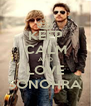 KEEP CALM AND LOVE SONOHRA - Personalised Poster A4 size