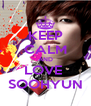 KEEP CALM AND LOVE  SOOHYUN - Personalised Poster A4 size