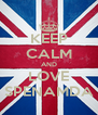 KEEP CALM AND LOVE SPENAMDA - Personalised Poster A4 size
