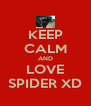 KEEP CALM AND LOVE SPIDER XD - Personalised Poster A4 size