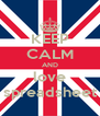 KEEP CALM AND love spreadsheet - Personalised Poster A4 size