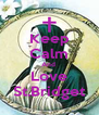 Keep Calm And  Love St.Bridget - Personalised Poster A4 size