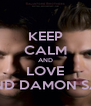 KEEP CALM AND LOVE STEFAN AND DAMON SALVATORE - Personalised Poster A4 size