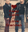 Keep Calm and Love Stendan - Personalised Poster A4 size