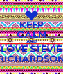 KEEP CALM AND LOVE STEVIE RICHARDSON - Personalised Poster A4 size