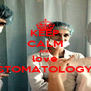 KEEP CALM AND love STOMATOLOGY - Personalised Poster A4 size